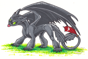 Toothless by StangWolf