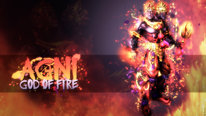 Agni, God of Fire - Wallpaper HD by Getsukeii