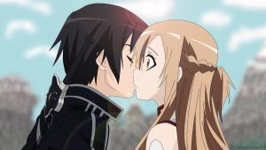 Kirito And Asuna by modrzew91