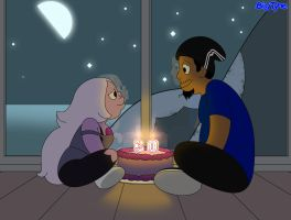 BigTyme and Amethyst B-Day Thirty Candles by TheEdMinistrator765