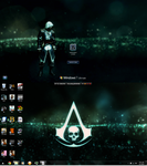My Assassin's Ceed IV Black Flag Logon and Desktop by JayTeeDee