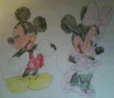 Mickey and Minnie by MollyKetty