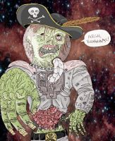 Zombie Pirate from Outer Space by ejmill28