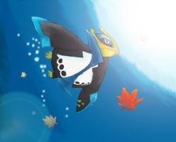 Diving Empoleon by Kyobelachyo