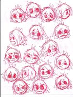 2D Facial Expressions #2 by Lilymint7