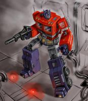 Optimus Prime by Tristiaa