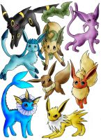 07. The Eevee Evolutions by Ryusagi