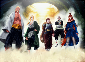 The five kages by LakooTA