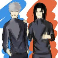 the Senju Hokage :Tobirama and Hashirama by OsMie20