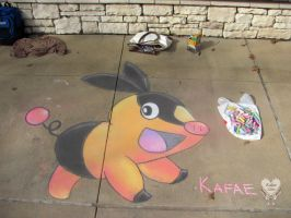 Tepig in the Park by Kafae-Latte