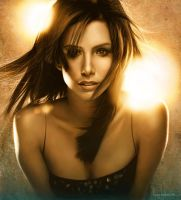 Eva Longoria - Digital Painting by LopezLorenzana