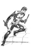 Nightwing:Young Justice HI RES by JeanSinclairArts