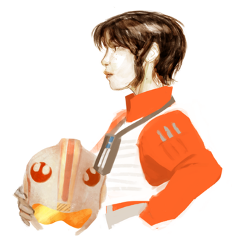 Lady X-Wing Pilot by trustahope