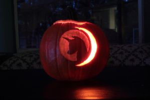Mare in the Moon (Pose 2) Pumpkin Carving by Sacred-Dreams
