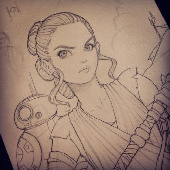 Rey and BB-8 by ChrissieZullo