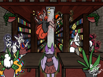 [ EC ] Chaos In The Library by StarlitNightSkies