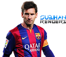 Lionel Messi 2015 render FC barcelona by subhan22
