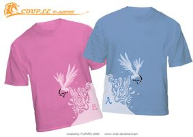 couple T-shirt by R-DRAIN