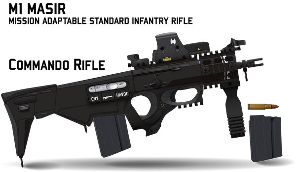 M1 MASIR Commando (Stock Retracted) by Afterskies