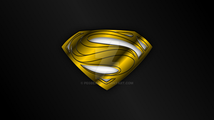 Man of Steel HOPE Symbol GOLD CHROME Wallpaper by Pegbeard