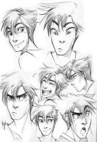 Sketches! Some Daren's Expressions! by Myed89