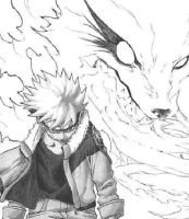 Naruto and Nine Tailed Fox by XxYUNG1WUNxX