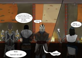 Dragon age inquisition endings at the bar by Earthsoul22