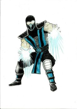 Sub-Zero - colored pencil drawing by NemanjaVeselinovic