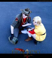 Hellsing: Pip and Seras by Neitzarr