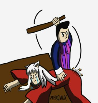Inuyasha's lesson with Robbie Rotten by Merilaux