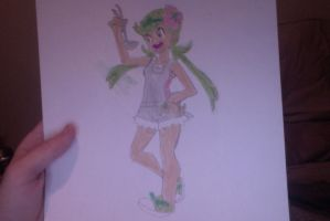 My drawing of Mallow (Pokemon) by SplatCrosser