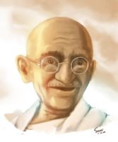 Gandhi by Saswat777