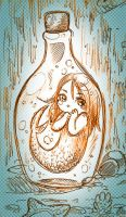 Mermaid in a bottle by NoA85
