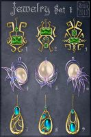 Jewelry Set 1 (CLOSED) by Rittik-Designs
