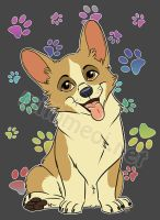 Corgi Tee by Greykitty