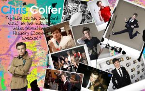 Chris Colfer Wallpaper by rdjgleeknicole96
