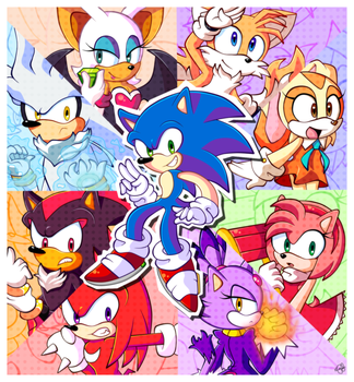 Sanic and Friends by KleeKay423