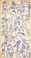 Horse sketchdump by Mistrel-Fox