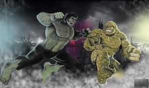 Hulk vs Thing 2011 by GraphixRob