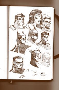 Some Justice Sketches... by AGartworks