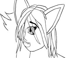 Surprised Catgirl - Inked by Bisected8