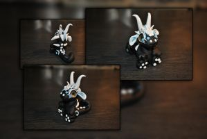 SnowBell the Baby Snow Dragon by KirstenBerryCrafts