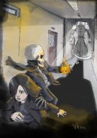 Escaping the Cleaver- Skulduggery Pleasant Fan Art by VisualSymphonyStudio