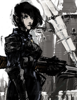 Sniper at the Sister Mills by MirroredR