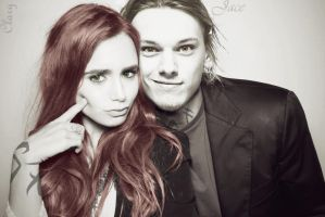 Jace and Clary by nikki-is-divergent