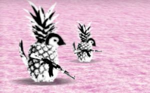 Pineapple Penguins Patrol The Area. by Elater