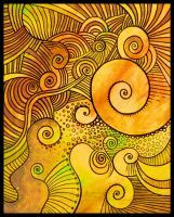 yellow abstractos by santosam81