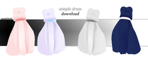 Simple Dress Download by spagettibumf