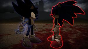Dark Sonic vs Sonic.exe by DevilnekoX