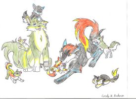 Midna and Link with Pups by DeppObession10